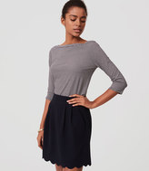 LOFT Pocket Scalloped Skirt