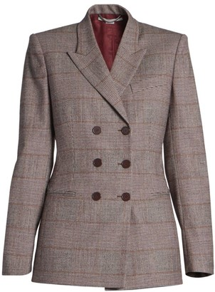 Stella McCartney Double-Breasted Plaid Jacket