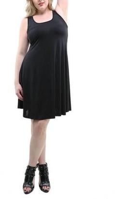 24/7 Comfort Apparel Women's Plus Size Sleeveless Tank Knee-Length Dress