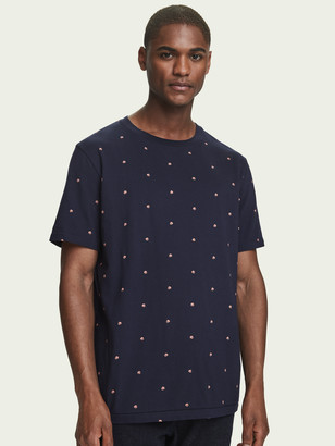 Scotch & Soda Cotton t-shirt with all over print | Men