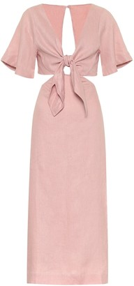 Cult Gaia Maya linen midi dress
