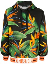 Dolce & Gabbana King bird of paradise print hoodie