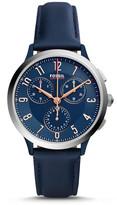 Fossil Abilene Sport Chronograph Blue Leather Watch