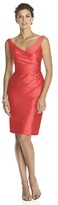 Alfred Sung D644 Bridesmaid Dress in Firecracker