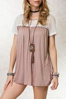 Easel Lace Taupe Top