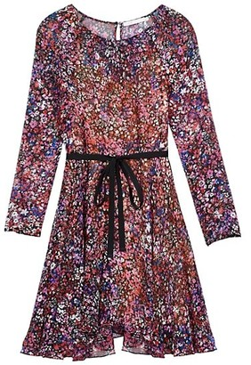 Maje Relana Silk Floral Mini Dress