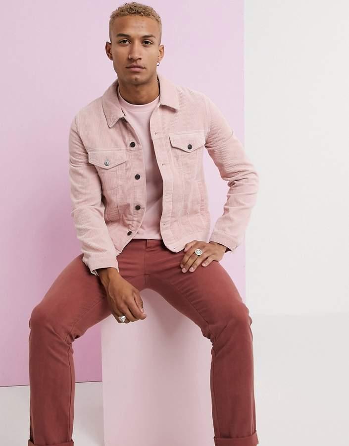 b5797da73 Design DESIGN cord western jacket in pink