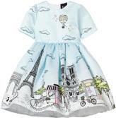Love made Love Pale Blue Paris Print Dress
