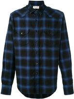 Saint Laurent Western long sleeve shirt - men - Cotton/Tencel - 37
