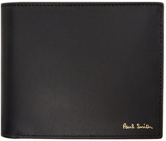 Paul Smith Black Multi Stripe Bifold Wallet