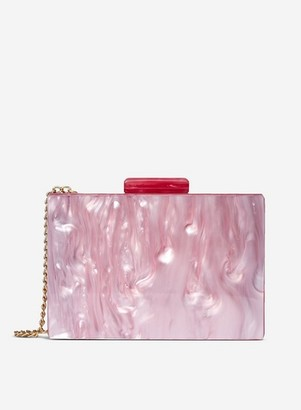 Dorothy Perkins Womens Pink Marble Box Clutch, Pink