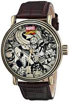 Marvel Men's W001768 Spider-man, Iron Man, Hulk, Captain America Analog-Quartz Brown Watch