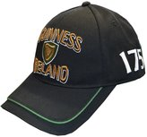 Guinness Baseball Cap With Gold Embossed Ireland Text & Harp Shield