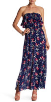 Living Doll Floral Strapless Maxi Dress