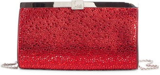 Christian Louboutin Small Palmette Crystal Embellished Clutch
