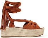 Sigerson Morrison Cosie lace-up suede sandals