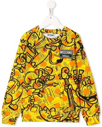 Moschino Kids TEEN all-over print sweatshirt