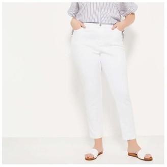 Joe Fresh Women+ Slim-Fit Jeans, White (Size 22)