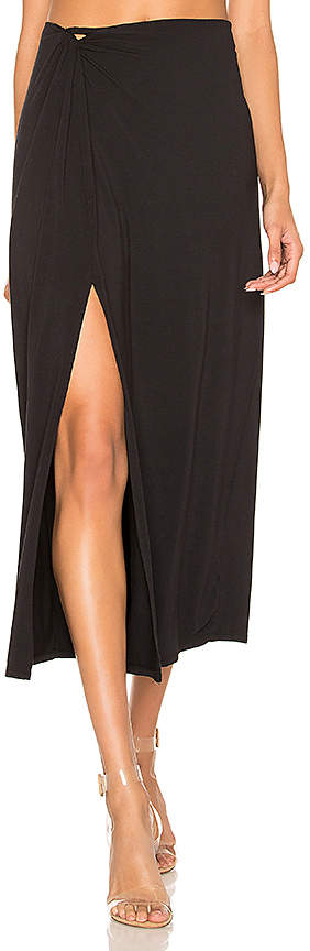 Draped Jersey Knot Maxi Skirt