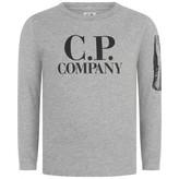 C.P. Company C.P. CompanyBoys Grey Long Sleeve Cotton Top