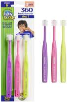 Baby Buddy 360 Toothbrush Step 2 Stage 6 for Ages 2-12 Years, Kids Love Them, Purple-Hot Pink-Lime