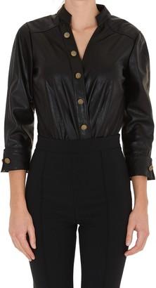 Elisabetta Franchi Faux Leather Bodysuit