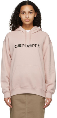 Carhartt Work In Progress Pink Logo Hoodie
