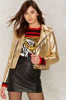 Nasty Gal Collection Gold Dust Woman Leather Jacket