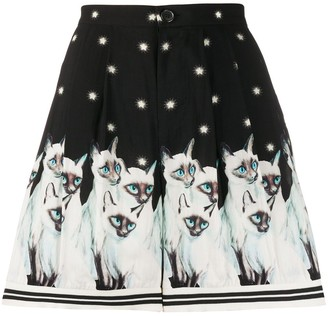 Undercover Painted Cats Shorts