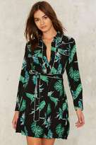 Factory Caribbean Shirt Dress