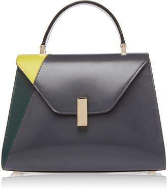 Valextra Iside Color-Blocked Leather Shoulder Bag