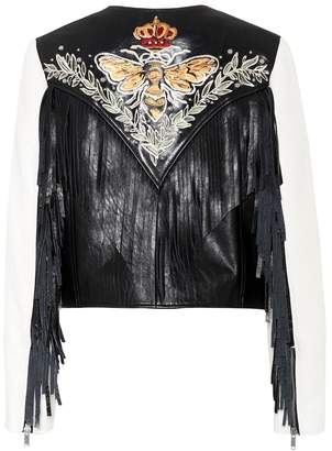 Etoile Isabel Marant Isabel Marant, étoile Kirk embroidered leather jacket