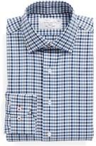 Lorenzo Uomo Men's Trim Fit Check Dress Shirt