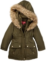Catherine Malandrino Faux Fur Trimmed Hooded Parka (Big Girls)