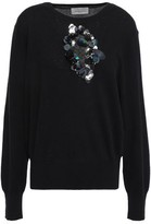Preen by Thornton Bregazzi Annabel Cutout Embellished Wool And Cotton-blend Sweater