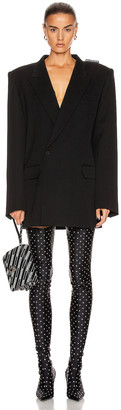 Balenciaga 80 Shoulder Jacket in Black | FWRD