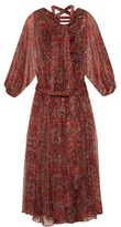 Zimmermann Empire palmette-print silk-chiffon midi dress