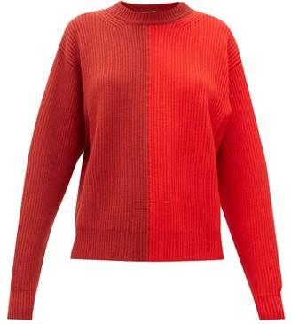 Vaara Eliza Two-tone Ribbed Wool Sweater - Red Multi