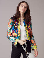 Diane von Furstenberg Fitted Paneled Jacket