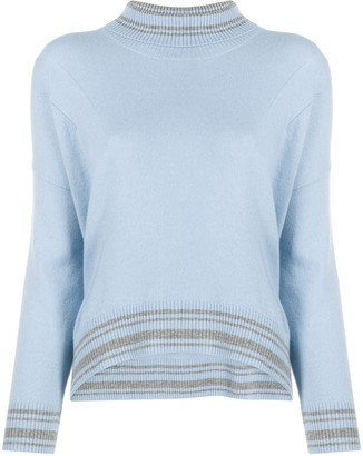Ermanno Scervino Slouchy Roll Neck Jumper