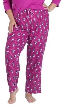Muk Luks Printed Butter-Knit Sleep Pants