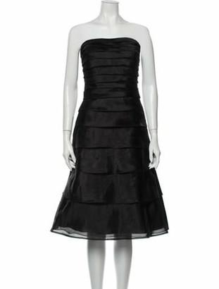Jovani Strapless Knee-Length Dress Black