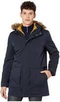 Ted Baker Brytun Hooded Parka with Puffa Inner (Navy) Men's Clothing