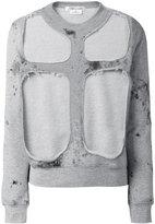 Comme des Garcons layered sweatshirt - women - Cotton - M