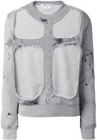 Comme des Garcons layered sweatshirt - women - Cotton - S