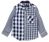 Andy & Evan Navy Patchwork Gingham Shirt (Toddler & Little Boys)
