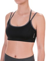 Reebok Victor Strappy Sports Bra - Medium Impact, Removable Cups (For Women)