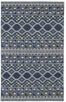 Tribeca Flatweave Blue Wool Rug (8' x 10')
