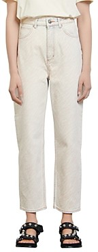 Sandro Zebran Acid Wash Relaxed Fit Jeans