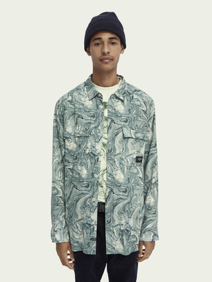 Scotch & Soda Oversized marbled worker shirt | Men